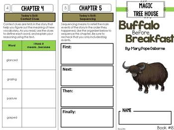 Magic Tree House #18 Novel Study Unit - Buffalo Before Breakfast