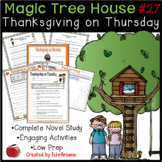 Magic Tree House #27- Thanksgiving on Thursday Novel Study