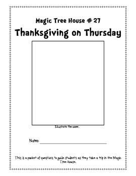 Magic Tree House #27- Thanksgiving on Thursday Packet