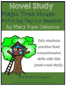 Magic Tree House #29 A Big Day for Baseball - Novel Study/Comprehension
