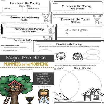 Magic Tree House #3, Mummies in the Morning Book Companion & STEM Activities
