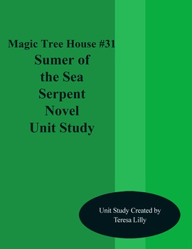 Magic Tree House #31 Summer of the Sea Serpent Novel Literature Unity Study