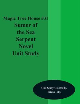 Magic Tree House #31 Summer of the Sea Serpent Novel Literature Unity Study