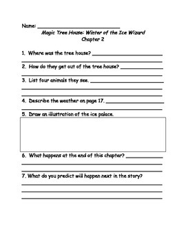 Magic Tree House #32 Winter of the Ice Wizard comprehension questions