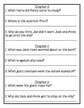Magic Tree House #39 Comprehension Packet