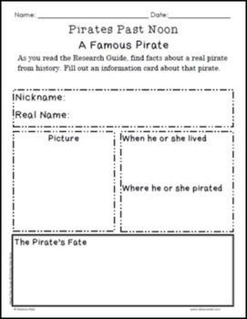 Magic Tree House #4 Pirates Past Noon Idea Organizers
