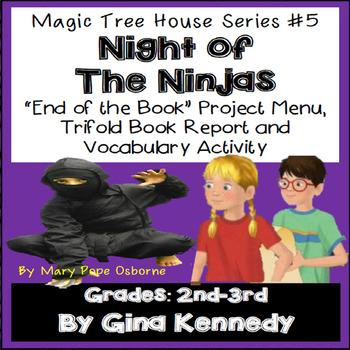 Magic Tree House #5 Night of the Ninjas Novel Study, Project Menu