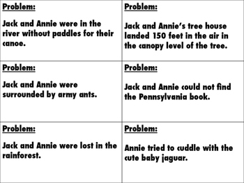Magic Tree House #6 - Afternoon on the Amazon - Problem/Solution Cards