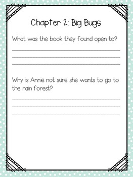 Magic Tree House # 6 Afternoon on the Amazon Reading Group Questions