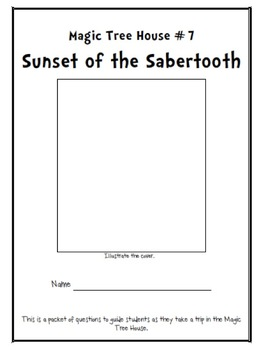 Magic Tree House #7- Sunset of the Sabertooth Packet