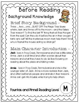 Magic Tree House #8 Midnight on the Moon - Novel Study/Comprehension