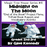 Magic Tree House #8 Midnight on the Moon Novel Study, Project Menu