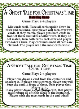Magic Tree House - A Ghost Tale for Christmas Time  Novel Unit