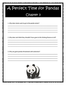 Magic Tree House A PERFECT TIME FOR PANDAS Comprehension DIGITAL & PRINTABLE