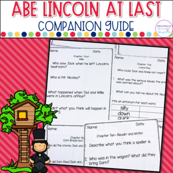 Abe Lincoln At Last- Comprehension Guide