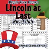 Magic Tree House - Abe Lincoln at Last Novel Unit -Vocab,c