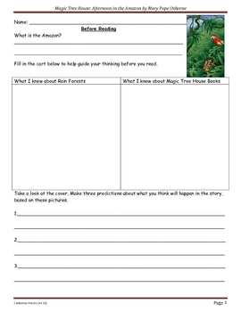 Magic Tree House: Afternoon in the Amazon (Guided Reading unit)