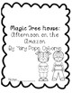 Magic Tree House: Afternoon on the Amazon Book Comprehension Packet
