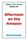 "Magic Tree House ""Afternoon on the Amazon"" worksheets"