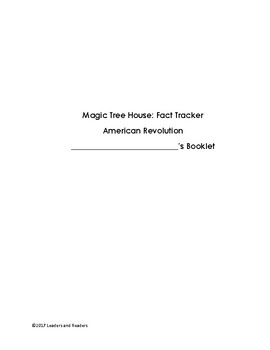 Magic Tree House: American Revolution Fact Tracker