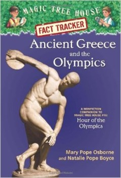 Magic Tree House, Ancient Greece and the Olympics ELA less