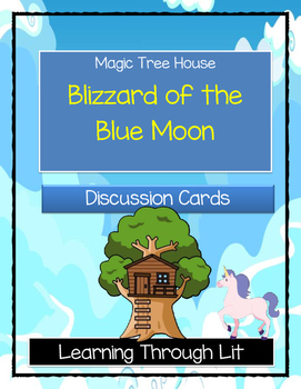 Magic Tree House BLIZZARD OF THE BLUE MOON - Discussion Cards