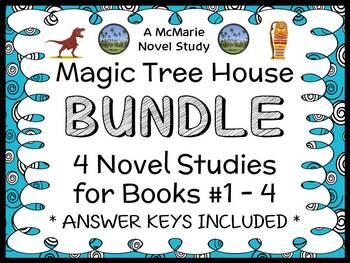 Magic Tree House BUNDLE - 4 Novel Studies : Books #1 throu