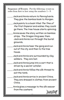 Magic Tree House BUNDLE - 4 Novel Studies : Books #13 through #16   (106 pages)