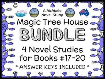 Magic Tree House BUNDLE - 4 Novel Studies : Books #17 thro