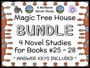 Magic Tree House BUNDLE - 4 Novel Studies : Books #25 through #28   (115 pages)