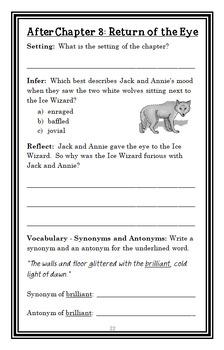 Magic Tree House BUNDLE - 4 Novel Studies : Books #29 through #32  (140 pages)