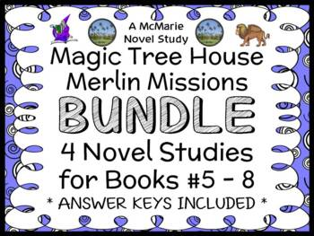 Magic Tree House BUNDLE - 4 Novel Studies : Books #33 through #36   (119 pages)