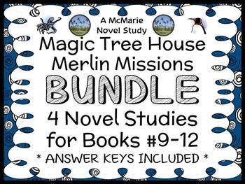 Magic Tree House BUNDLE - 4 Novel Studies : Books #37 through #40   (122 pages)