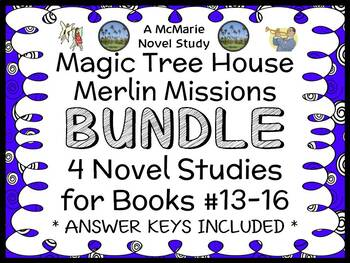 Magic Tree House BUNDLE - 4 Novel Studies : Books #41 through #44   (131 pages)