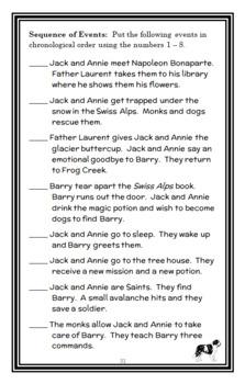 Magic Tree House BUNDLE - 4 Novel Studies : Books #45 through #48   (140 pages)