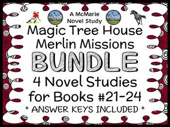 Magic Tree House BUNDLE - 4 Novel Studies : Books #49 thro