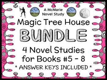 Magic Tree House BUNDLE - 4 Novel Studies : Books #5 throu
