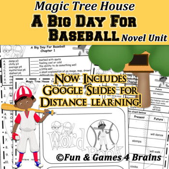 Magic Tree House - Big Day For Baseball Novel Unit - Distance Learning