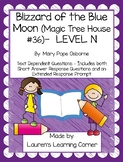 Magic Tree House - Blizzard of the Blue Moon - Level N -Text Dependent Questions