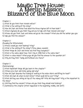 Magic Tree House: Blizzard of the Blue Moon Unit