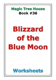 """Magic Tree House """"Blizzard of the Blue Moon"""" worksheets"""