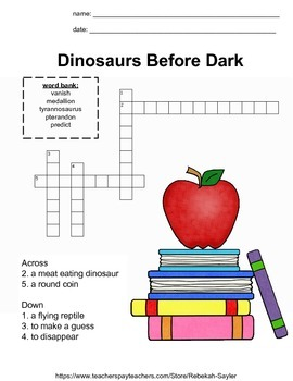 2nd Grade Reading:Magic Tree House Book 1 Activities