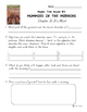 Magic Tree House Book 3 Mummies in the Morning Independent Work Packet