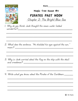 Magic Tree House Book 4 Pirates Past Noon Independent Work Packet