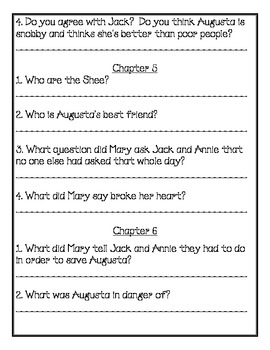 Magic Tree House Book #43 Comprehension Packet