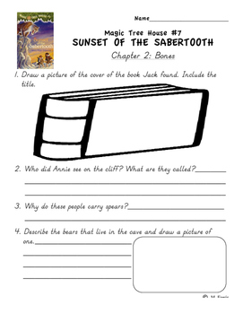 Magic Tree House Book 7 Sunset of the Sabertooth Independent Work Packet