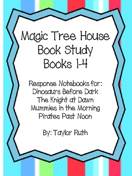 Magic Tree House Book Study!! Books 1-4 Bundle