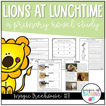 Magic Tree House Book Study: Lions at Lunchtime