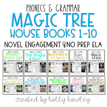 Magic Tree House Books 1-10 NO PREP (ELA) BUNDLE