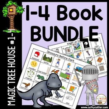 Magic Tree House - Books #1 - #4 BUNDLE